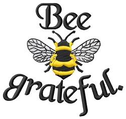 Bee Grateful embroidery design