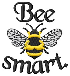Bee Smart embroidery design