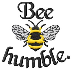 Bee Humble embroidery design