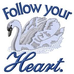 Follow Heart embroidery design