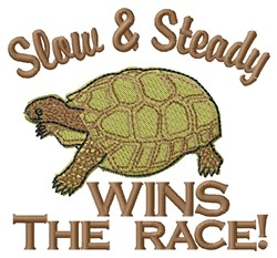Wins The Race embroidery design
