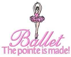 Pointe Made embroidery design