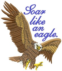 Soar Like Eagle embroidery design