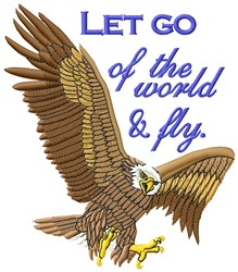 Let Go embroidery design