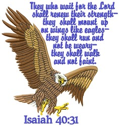 Isaiah 40:31 embroidery design