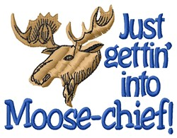 Moose-chief embroidery design
