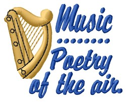 Music Poetry embroidery design