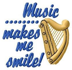 Music Smile embroidery design