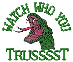 Who You Trust embroidery design