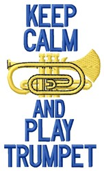 Play  Trumpet embroidery design