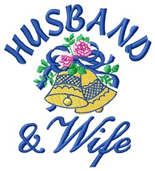 Husband & Wife embroidery design