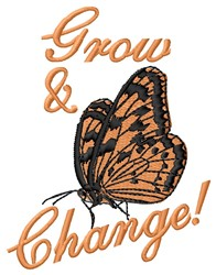 Grow & Change embroidery design