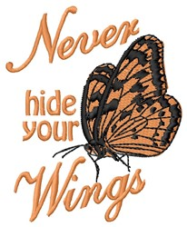 Hide Wings embroidery design