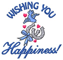 Wishing Happiness embroidery design