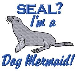 Dog Mermaid embroidery design