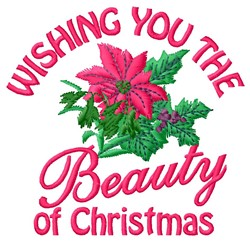 Christmas Beauty embroidery design