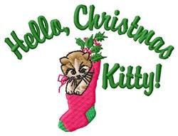 Christmas Kitty embroidery design