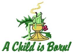 Child Is Born embroidery design