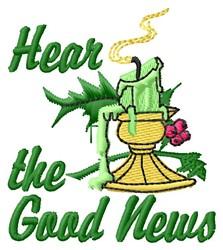 Good News embroidery design