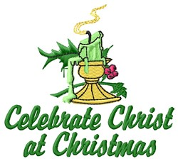 Celebrate Christ embroidery design