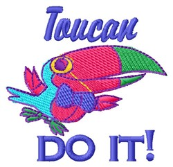 Toucan Do It embroidery design