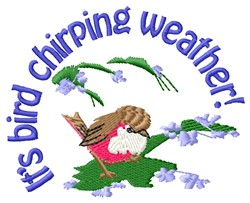 Chirping Weather embroidery design