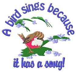 A Bird Sings embroidery design