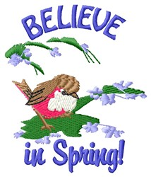 Believe Spring embroidery design