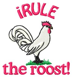 Rule The Roost embroidery design