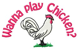 Play Chicken embroidery design