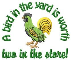 Bird In Yard embroidery design