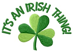 Irish Thing embroidery design