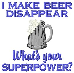Beer Superpower embroidery design