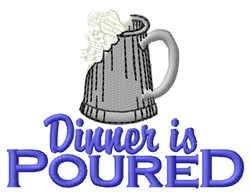 Dinner Poured embroidery design