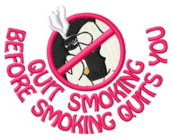 Quit Smoking embroidery design