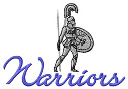 Warriors embroidery design