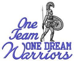 One Team embroidery design