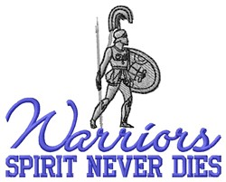 Warriors Spirit embroidery design