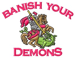 Banish Demons embroidery design