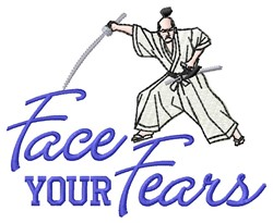 Face Fears embroidery design
