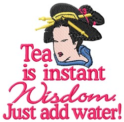 Tea Is Instant embroidery design