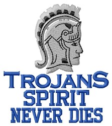 Trojans Spirit embroidery design