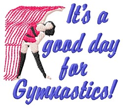 Gymnastics Day embroidery design