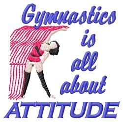 Gymnastics Attitude embroidery design