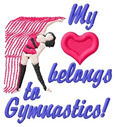 Gymnastics Heart embroidery design