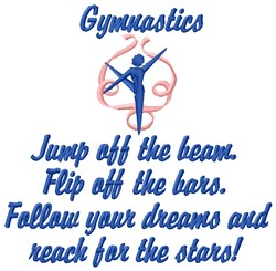 Gymnastics embroidery design