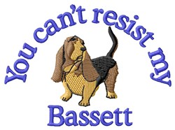 My Bassett embroidery design