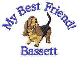 Best Friend Bassett embroidery design