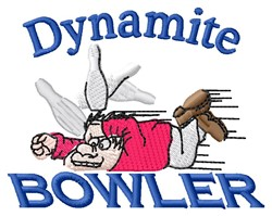 Dynamite Bowler embroidery design