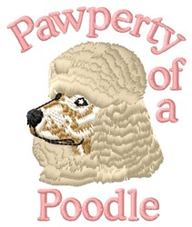 Pawperty Of Poodle embroidery design